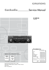 Manual de servicio Grundig EC 4890 CD