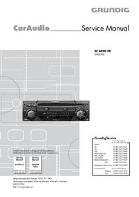 Руководство по техническому обслуживанию Grundig EC 4890 CD