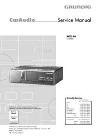 Serviceanleitung Grundig MCD 46