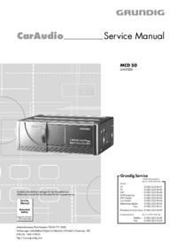 Manual de servicio Grundig MCD 50
