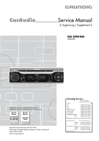 Serviço Manual Supplement Grundig SCD 3590 RDS