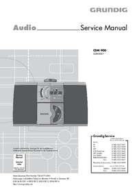 Manual de serviço Grundig CDM 900
