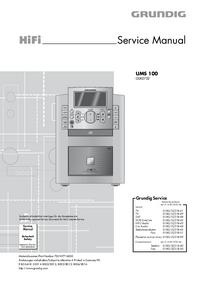 Manual de serviço Grundig UMS 100