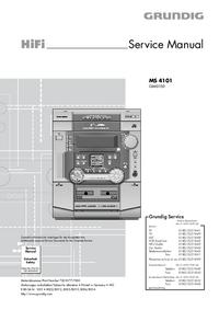 Instrukcja serwisowa Grundig MS 4101