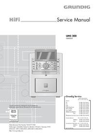 Руководство по техническому обслуживанию Grundig UMS 200