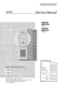 Manual de serviço Grundig CIRFLEXX UMS 4101