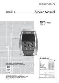 Service Manual Grundig NOCTUS SC 9100 DCF RDS