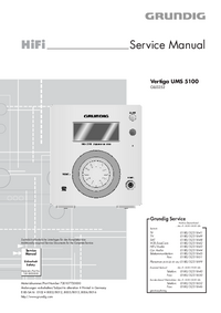 Manuale di servizio Grundig Vertiga UMS 5100