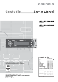 Manuale di servizio Grundig Allixx SCD 5490 RDS