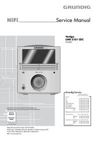 Serviceanleitung Grundig Vertiga UMS 5101 CDC