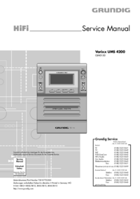Servicehandboek Grundig Varixx UMS 4200
