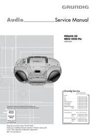 Instrukcja serwisowa Grundig FREAXX 30 RRCD 4203 PLL