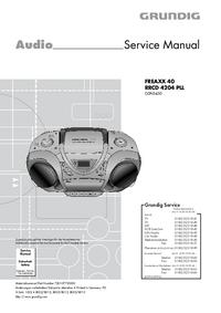 Руководство по техническому обслуживанию Grundig FREAXX 40 RRCD 4204 PLL