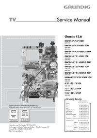 Servicehandboek Grundig Chassis 12.6