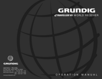 User Manual Grundig eTraveller VII