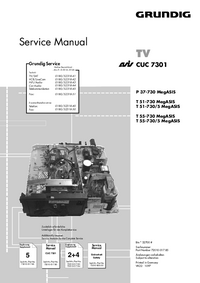 Service Manual Supplement Grundig T 55-730 MegASIS