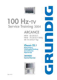 Manual de servicio Grundig Arcance MF 72-2410/7 Top