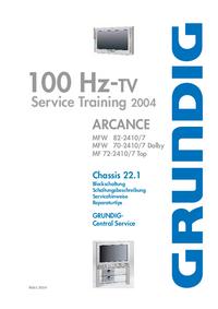 Manuale di servizio Grundig Chassis 22.1