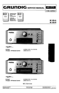 Service Manual Grundig M 100-A