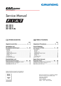 Service Manual Grundig AD 185 H (B)