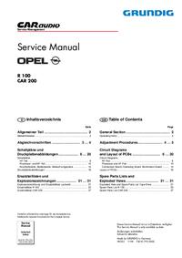 Service Manual Grundig CAR 200