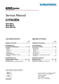 Instrukcja serwisowa Grundig 2014 RDS FM