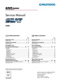 Руководство по техническому обслуживанию Grundig AURA