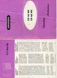 Manual del usuario Grundig SO 142 WE