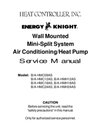 Service Manual HEATCONTROLLER B/A-HMH18AS