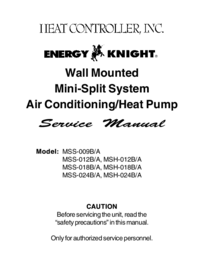 Service Manual HEATCONTROLLER MSH-018B/A