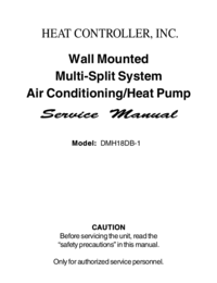 Manual de servicio HEATCONTROLLER DMH18DB-1