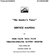 manuel de réparation HMV 188