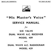 Manuale di servizio HMV 429