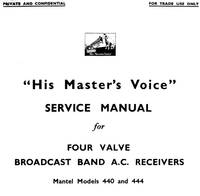 Manual de serviço HMV 444