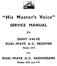Service Manual HMV 470