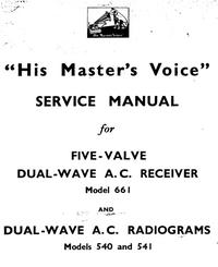 Manuale di servizio HMV 540