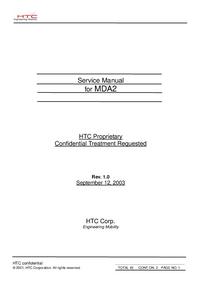 Servicehandboek HTC MDA2