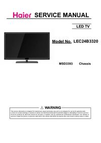Service Manual Haier LEC24B3320