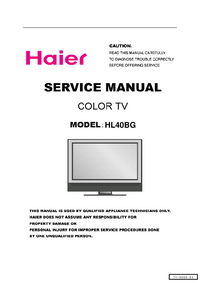 Service Manual Haier HL40BG