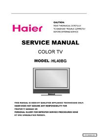Serviceanleitung Haier HL40BG