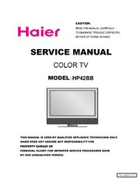 manuel de réparation Haier HP42BB