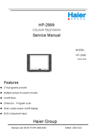 Manual de servicio Haier HP-2999
