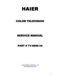 Service Manual Haier P42S6A-C2