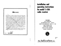 Serwis i User Manual Hallicrafter S-38A