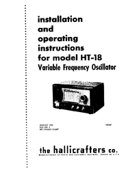 User Manual with schematics Hallicrafters HT-18