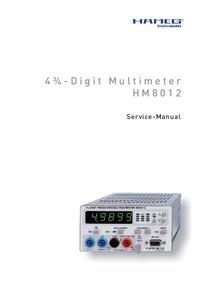 manuel de réparation Hameg HM8012