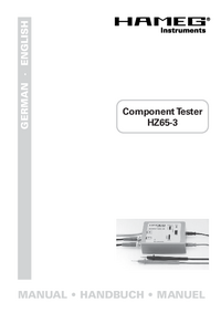 Manual del usuario Hameg HZ65-3