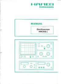 Serwis i User Manual Hameg HM203-5