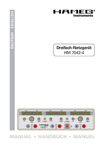 User Manual Hameg HM7042-4