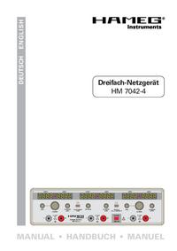 Gebruikershandleiding Hameg HM7042-4